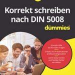 Korrekt schreiben nach DIN 5008 für Dummies